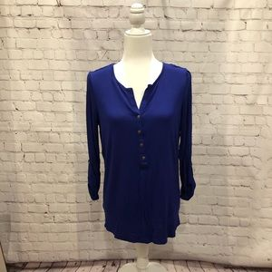WDNY Button Up Blue Blouse